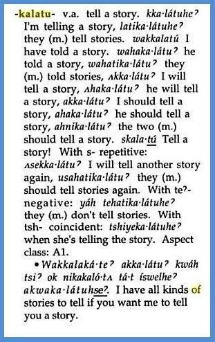 kalatu - means to tell a story